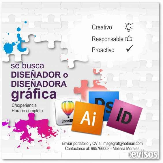 Busco diseñador gráfico publicitario