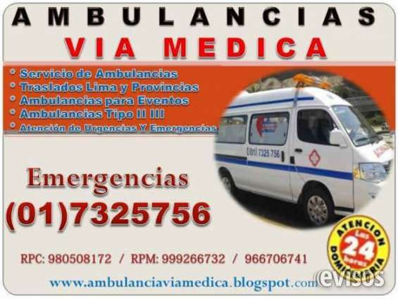 Ambulancias en lima