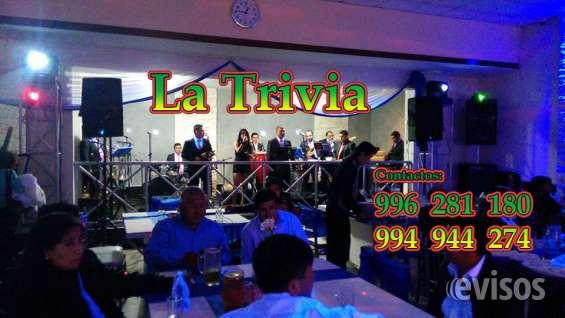 Fotos de Orquesta de lima orquesta la trivia música variada; salsa, cumbia, merengue, roc 2