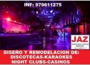 Night clubs, discotecas, karaokes, diseños, remodelaciones, chiclayo, jaen, bagua