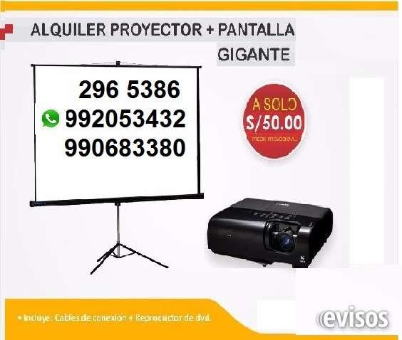 Alquiler proyector multimedia y ecran para todo evento