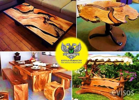 Muebles y bares rusticos en madera seleccionada