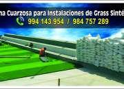 Arena para grass sintético