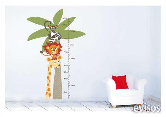 Vinil para decorar paredes, tallimetro para medir la altura de niños, medidas: 120 x 60 cm, producto importado de usa