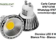 DICROICO LED COB BLANCO FRÍO - ALTO BRILLO - PROMOCIONES