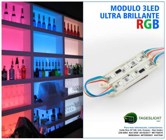 Gran oferta! modulo 3 y 4 led 5050 rgb, blanco frio y calido!