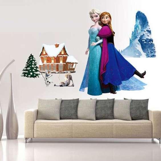 Princesa frozen disney -cenefas -sticker -decoracion niña