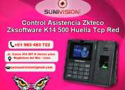 Reloj control de asistencia biometrico huella digital lx14, 983483722