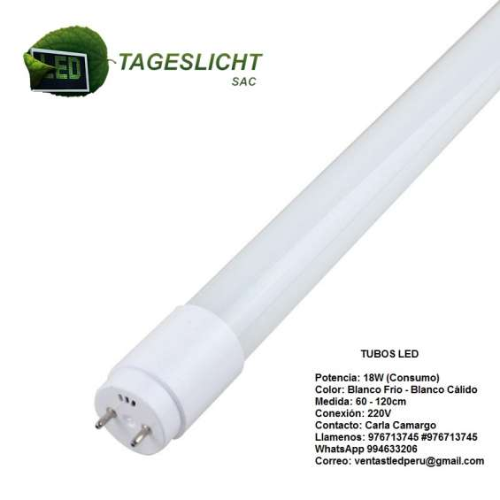 Tubo led alto brillo nanopc 120cm - 60cm directo a 220v ofertas