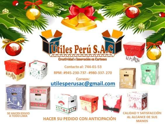 Cajas navideñas 2018 / canasta navideña