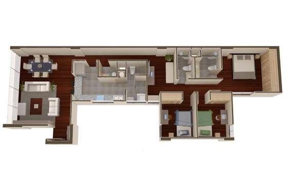 Vendo departamento estreno 126 m2 3 dorm. san borja ( s)