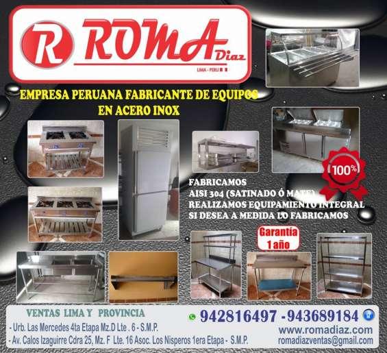 Cocina industrial acero inoxidable, refrigeracion roma diaz