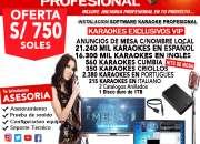 Karaoke profesional software instalacion oferta