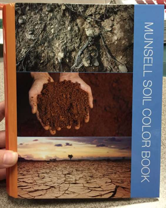 Libro de colores munsell para suelos, rocas y plantas