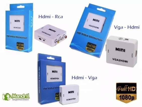 Convertidor de hdmi a rca vga a hdmi hdmi a vga audio video