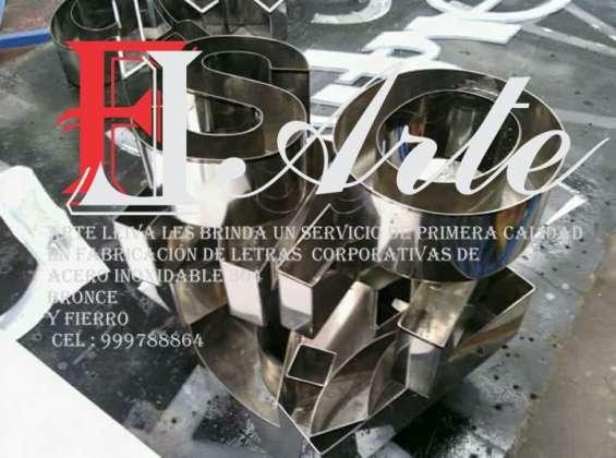 Letras de acero inoxidable 3d lima perú