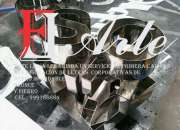 Letreros 3d  en acero inox lima perú