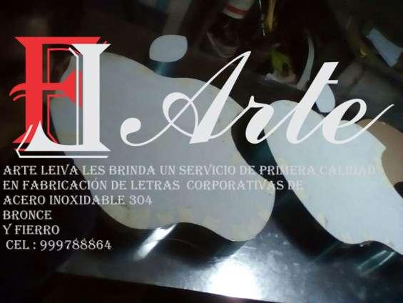 Logotipo de acero inox 3d lima perú