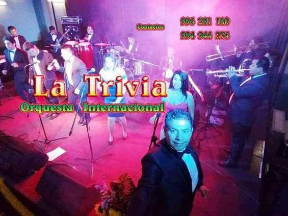 Fotos de Orquesta de lima orquesta la trivia música variada; salsa, cumbia, merengue, roc 1
