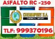 Asfalto puro rc-250/emulsion asfaltica en chemimport