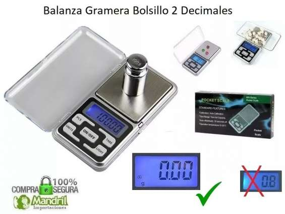 Balanza gramera digital de bolsillo 0.01gr 2 decimales joyas oro lcd + pilas