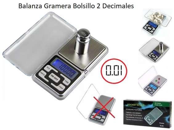 Fotos de Balanza gramera digital de bolsillo 0.01gr 2 decimales joyas oro lcd + pilas 3