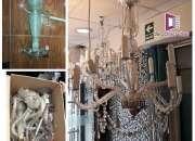 Limpieza y mantenimiento de arañas de cristal y candelabros