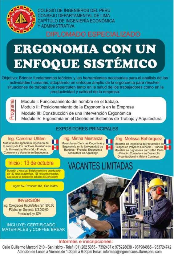 Diplomado en ergonomia con enfoque sistemico