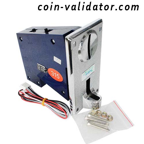 Maquina expendedora multiples  selectores validadores  aceptadores de monedas