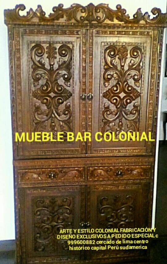 Bargueño colonial peruanos tallados