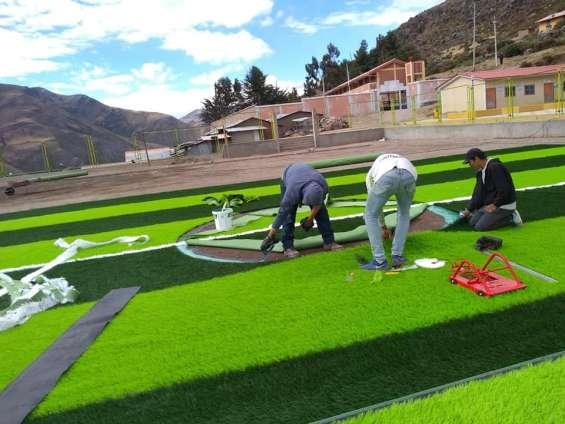 Venta de grass sintetico, instalación y mantenimiento de grass