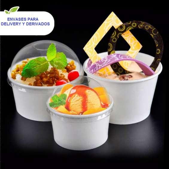 Contenedor o vasos de polipapel de helados de 8oz