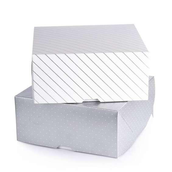 Cajas de tortas en diferentes tamaños