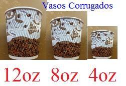 Vasos corrugados modelo cafe