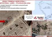 Vendo terreno para proyecto industrial/ habitacional de 45.50 hectáreas