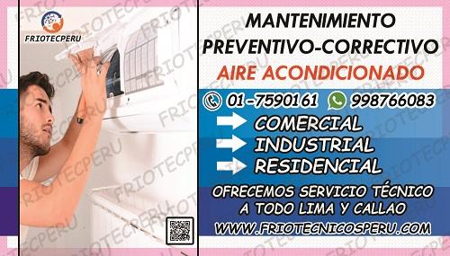 Aquí! servicio tecnico aire acondicionado 7590161 san isidro