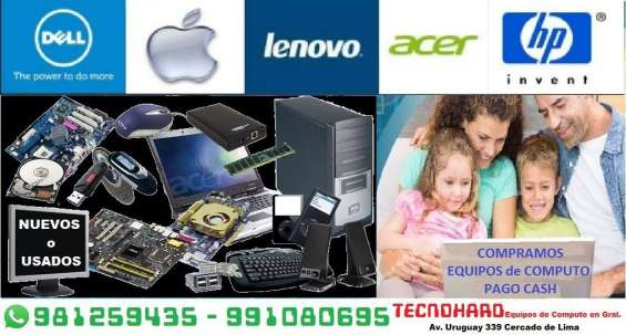 Laptops, cpus, monitores, printers, tvs, celulares, copiadoras,  etc