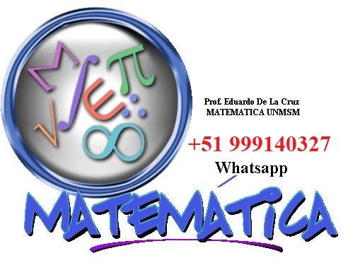 Matematicas online o domicilio - nivel escolar pre y universitario - 999140327