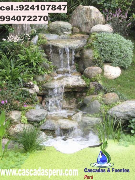 Cascadas para jardín, piletas, fuentes de agua.