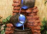 cascadas artificiales, cascadas para jardín, piletas, fuentes de agua.