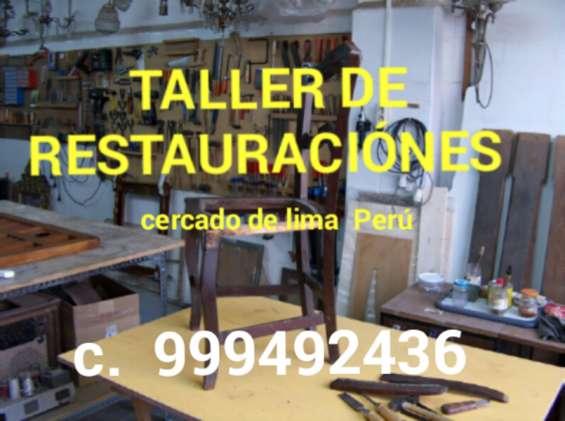 Taller de restauraciónes de antigüedades lima perú