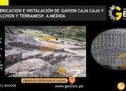 Fabricacion  de gaviones caja,colchon,terramesh envios a nivel nacional cel: 944838715