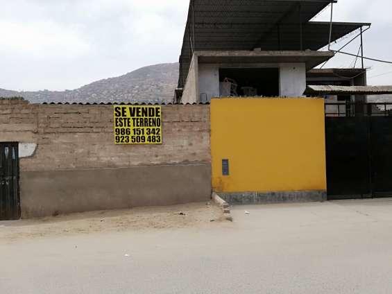 Ocasión se vende terreno en villa maria del triunfo en 120m2