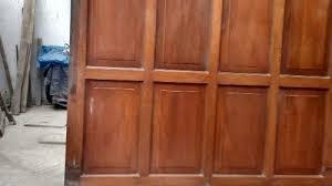 Porton de madera,sistema