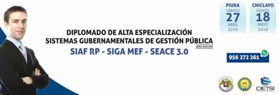 Diplomado de alta especialización siaf siga seace 2019
