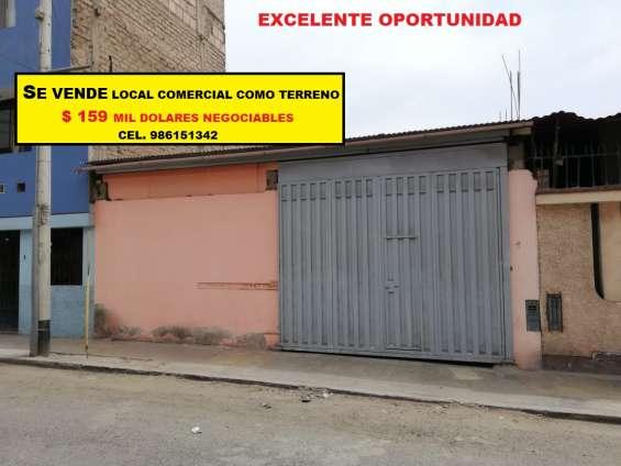 Excelente oportunidad se vende local comercial como terreno en san juan de miraflores