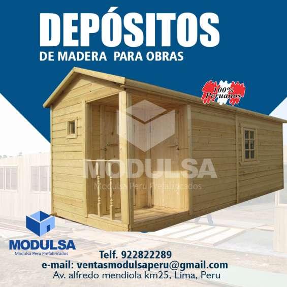 Depósitos prefabricados de madera en lima
