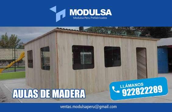Aulas prefabricadas de madera en peru