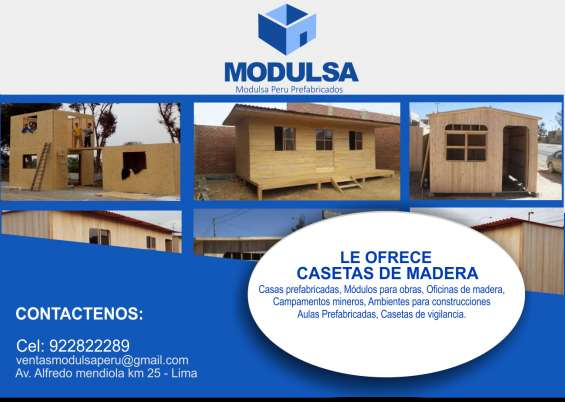 Viviendas casas cuartos prefabricados de madera machihembrada en lima