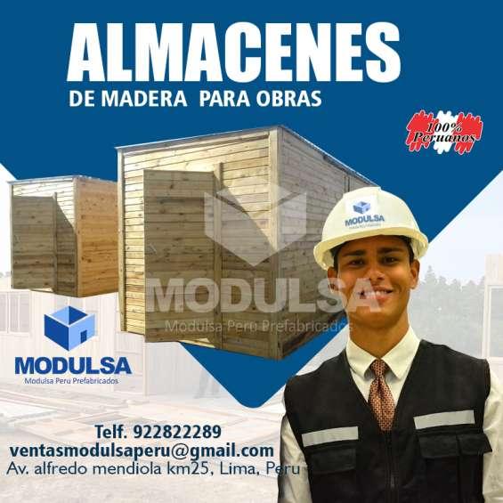 Alamacenes oficinas casetas prefabricadas para obras